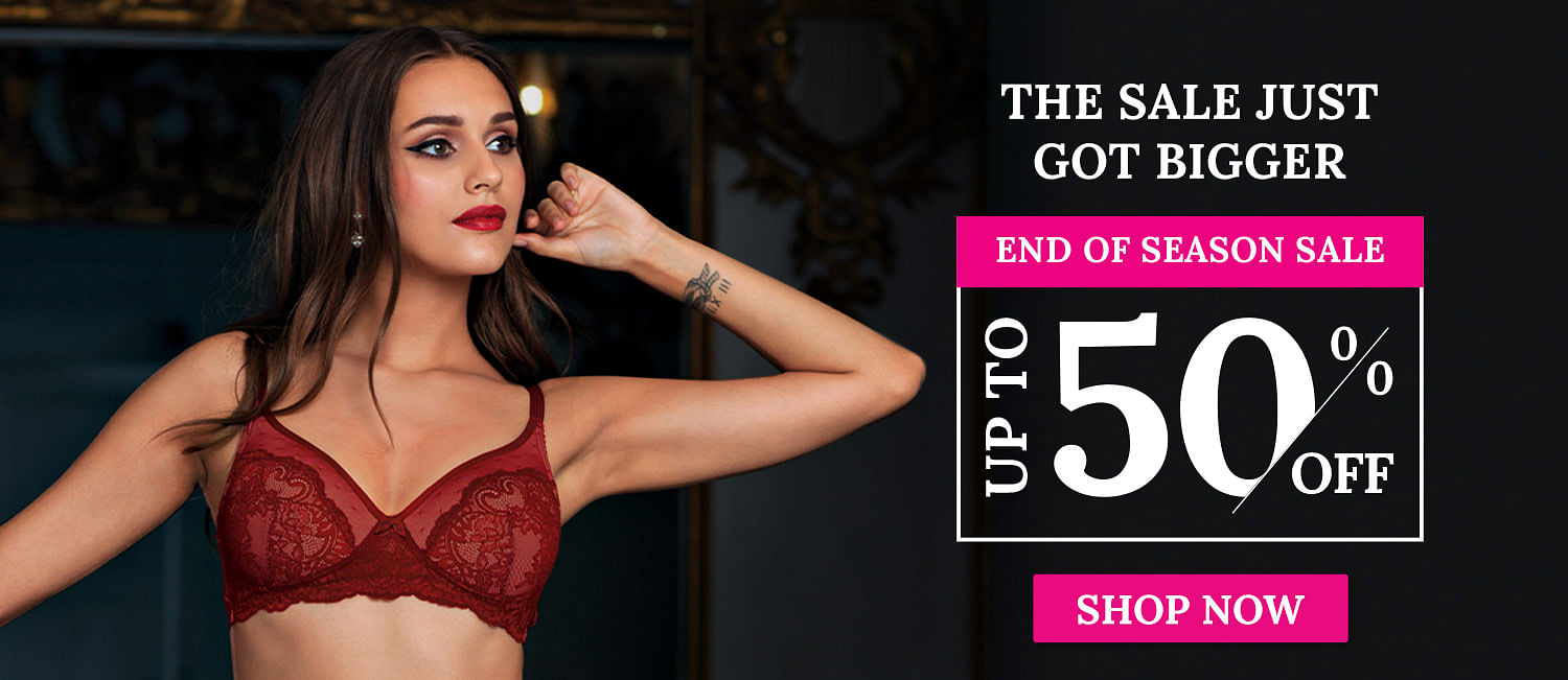 Enamor End of Season Sale Up to 40% Off on Bras