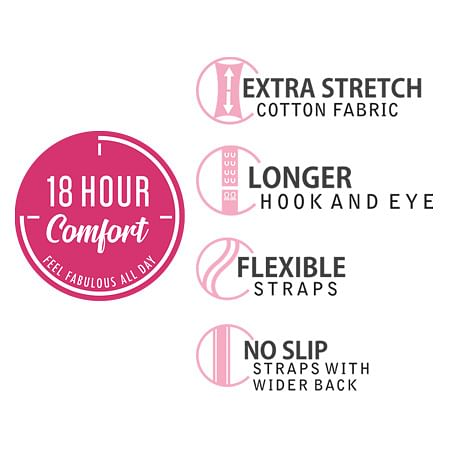18 Hour Comfort Stretch Cotton Bra