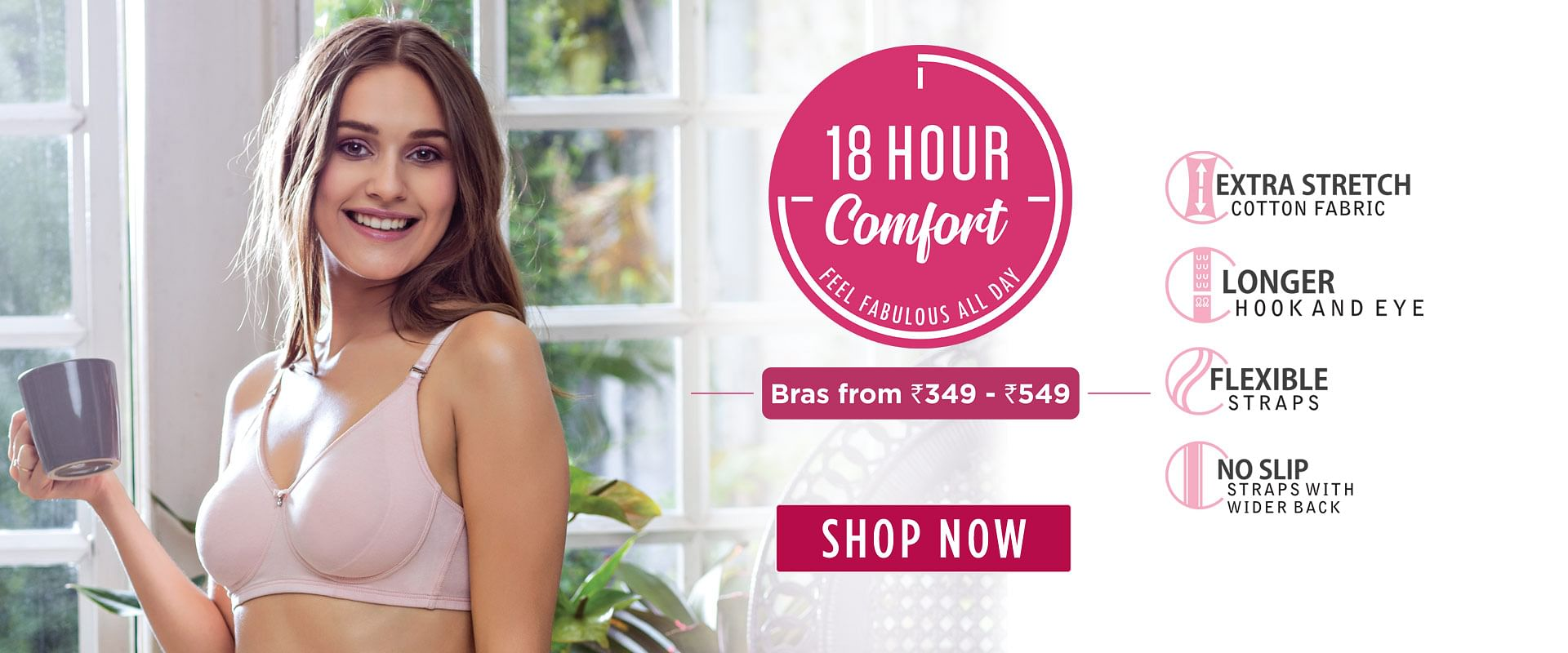 18 Hour Super Comfort Cotton Bra