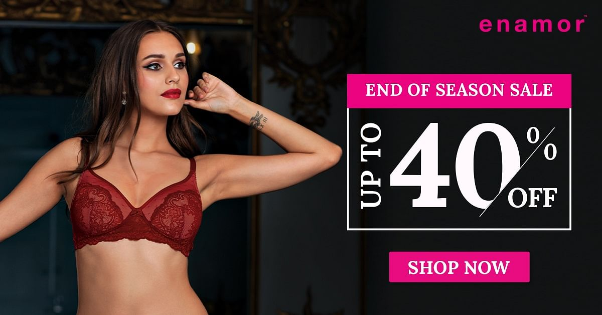 Enamor End of Season Sale Up to 40% Off on Lingerie