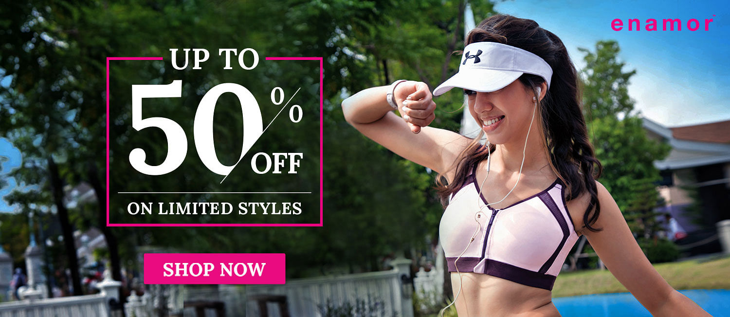 Enamor End of Season Sale Up to 50% Off on Bras